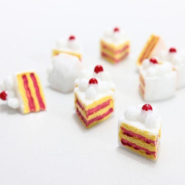 AntDeal 10pcs Mini Triangle Cake Resin DIY Craft Scrapbook Decoration Baby(China (Mainland))