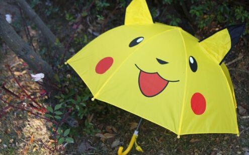 Free shipping New Pikachu cartoon children Kids Umbrella/Parasol gift(China (Mainland))
