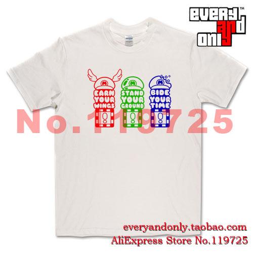 High Quality Super Mario Hat Advice Causal Tee T-shirt Camisetas Clothing Tshirt T(China (Mainland))