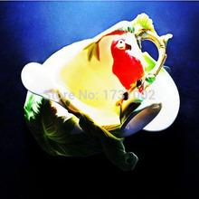 The latest popular China Enamel porcelain Portable travel 200ml tea cup Integrative and Convenient Coffee Tea