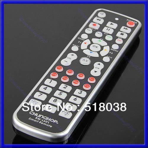 B39 Free Shipping New 8in1 Universal Remote Control Controller Fr TV1 TV2 CBL SAT DVB DVD AMP CD B(China (Mainland))