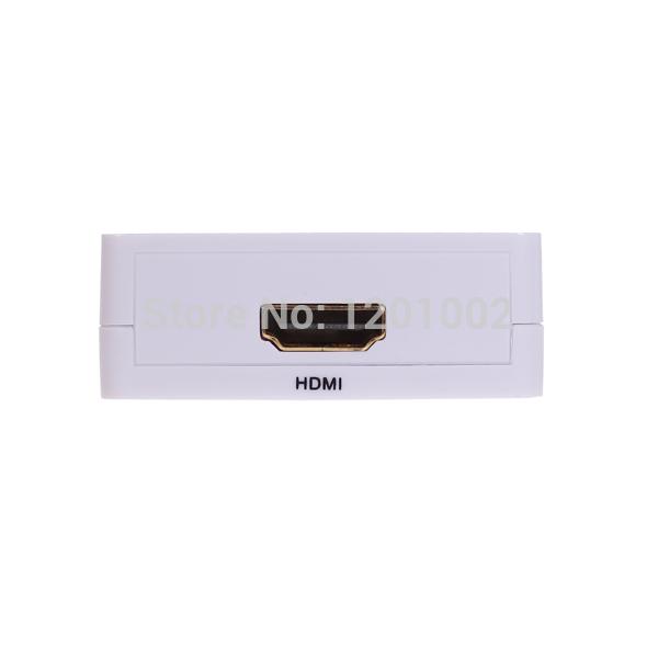 1psc/Lot Free shipping wholesale HDMI AV, HDMI HD converters TO AV switcher 1080p HDCP protocol(China (Mainland))