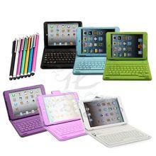For Hard 3d iPad Mini Case Wireless Bluetooth Keyboard PU Leather Stand Case Cover For iPad Mini 1 2 3& Free Stylus Pen(China (Mainland))