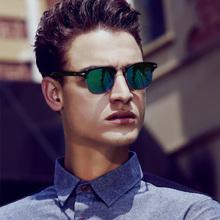 Hot 2015 Fashion Men's UV400 Polarized coating Sunglasses men Driving Aviator Mirrors Eyewear Sun Glasses for Men with Case Box(China