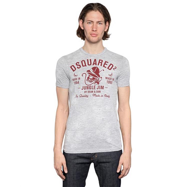 Dsq short sleeve T shirt male 2015 d2 t shirt men s clothing short sleeve slim