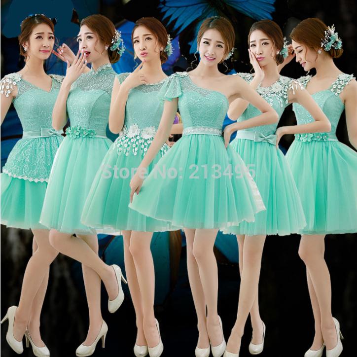 Desfile compra lotes baratos de menta verde vestido desfile de