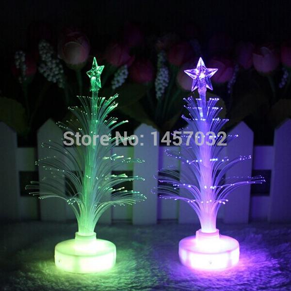 Novelty Gifts Led Chrismas Luminary Light Luminaria Decoration Lamps Colorful Luminous Fiber Optic Night Lights Indoor Lighting(China (Mainland))