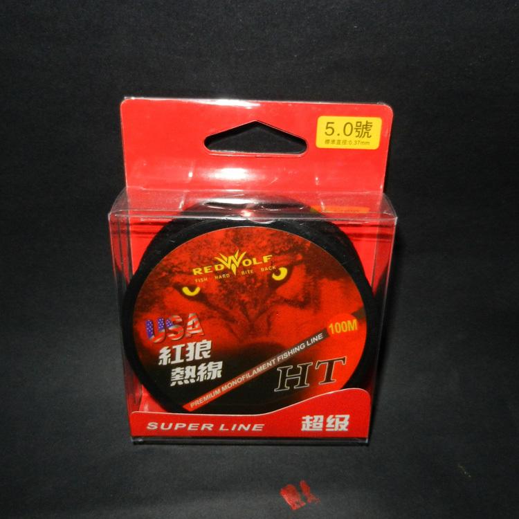 100m Nylon Fishing Line Red Wolf Monofilament Mainline Economy Cheap Fish Line Big Discount(China (Mainland))
