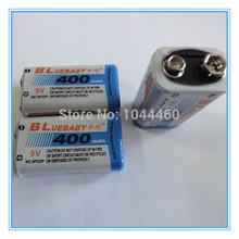 3PCS / Multimeter Battery LOT BP 9V 9 Volt Ni-MH Rechargeable Battery 400mAh Batteries Free Shipping(China (Mainland))