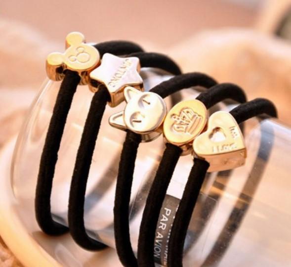 (10pcs/lot) women hairband elastic hair band accessories tie headbands Headwear for girls metallic color(China (Mainland))