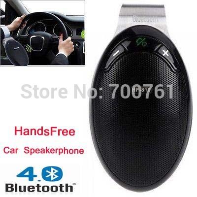 Car Handsfree kit Wireless Bluetooth v4.0 Mulitpoint car Speakerphone Speaker for iPhone Samaung HTC Smartphone(China (Mainland))