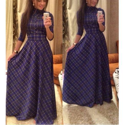 Длинные платья с длинными рукавами на каждый день