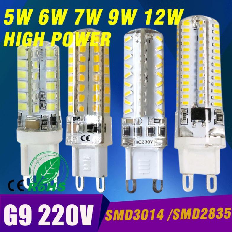 Free shipping G9 LED corn bulb lamp droplight 2835 SMD 3014 SMD 5W 6W 7W 9W 10W 220V 30W halogen Replace guarantee 360 Beam(China (Mainland))