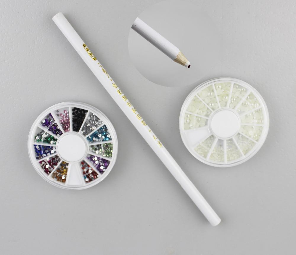 1-3mm 3000pcs Acrylic Round Rhinestone Pearl Decoration 3pcs/set For Cell Phone & Nail Art Tips Beauty(China (Mainland))