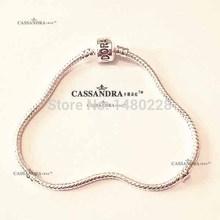 18cm-21cm European Fashion charm Bracelet 925 silver Snake Chain Fit Pandora style Bracelet For Men Women Valentine's Day Gift