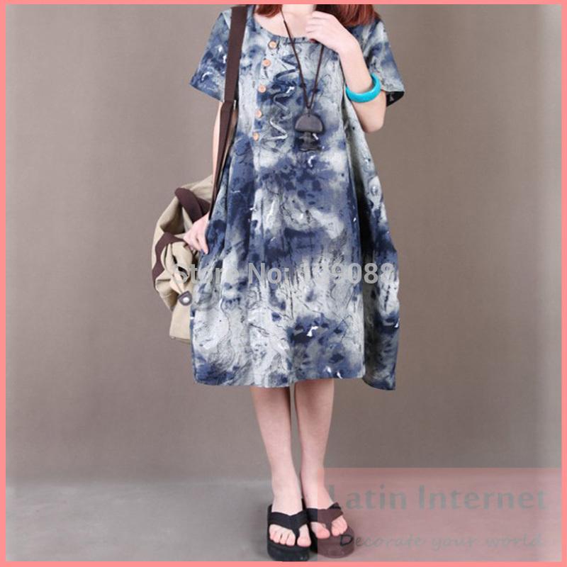 Plus Size Cotton Linen Dresses