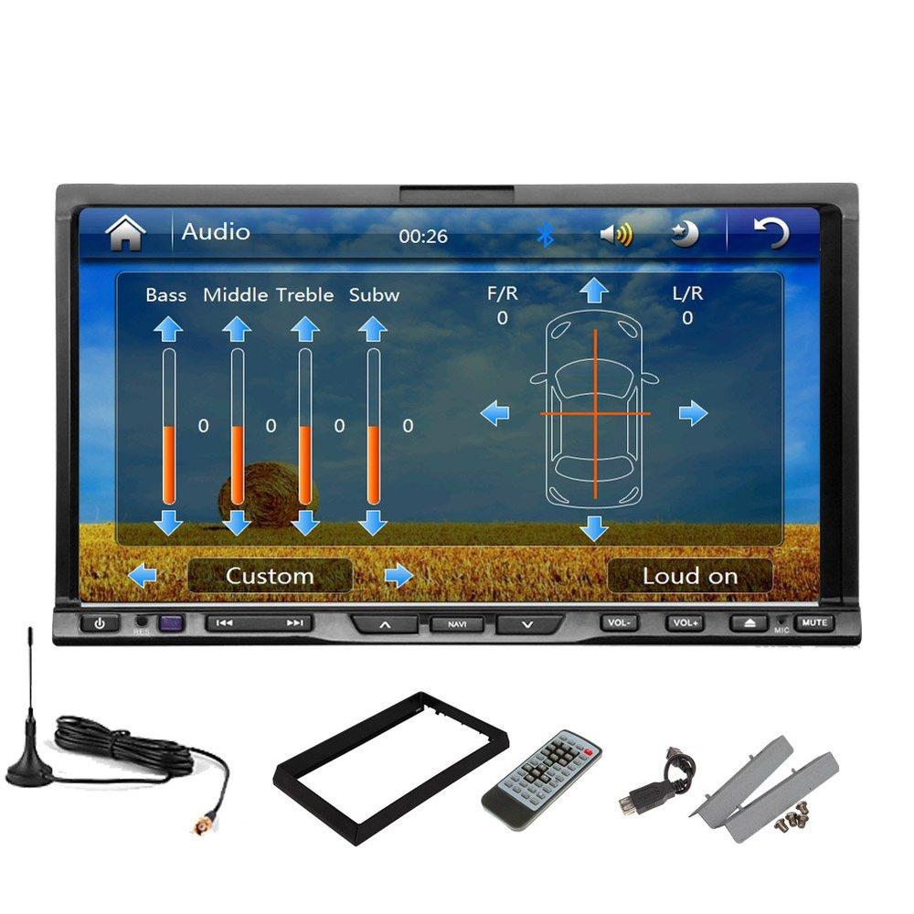 Double 2 Din Car GPS Navigation DVD Video Player Digital TV+BT+Map+ipod+Radio+USB/SD 7'' In-dash Universal Head Unit car Stereo(China (Mainland))