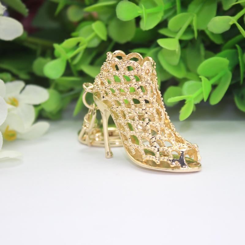 Wholesale 300pcs fashion creative keychain gift purse hang -encrusted heels key chain Free shipping(China (Mainland))