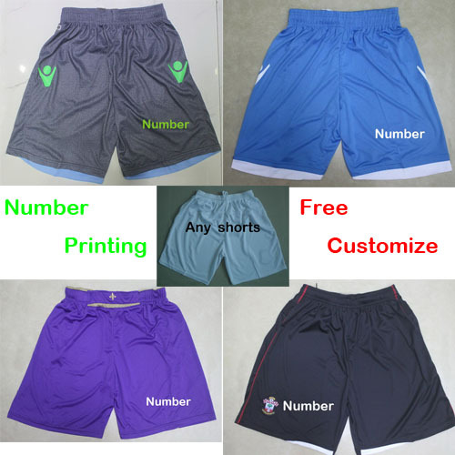 Free Number Printing 2015 Club Soccer shorts Napoli jeans Southampton home Fiorentina home purple shorts pant with all tags(China (Mainland))