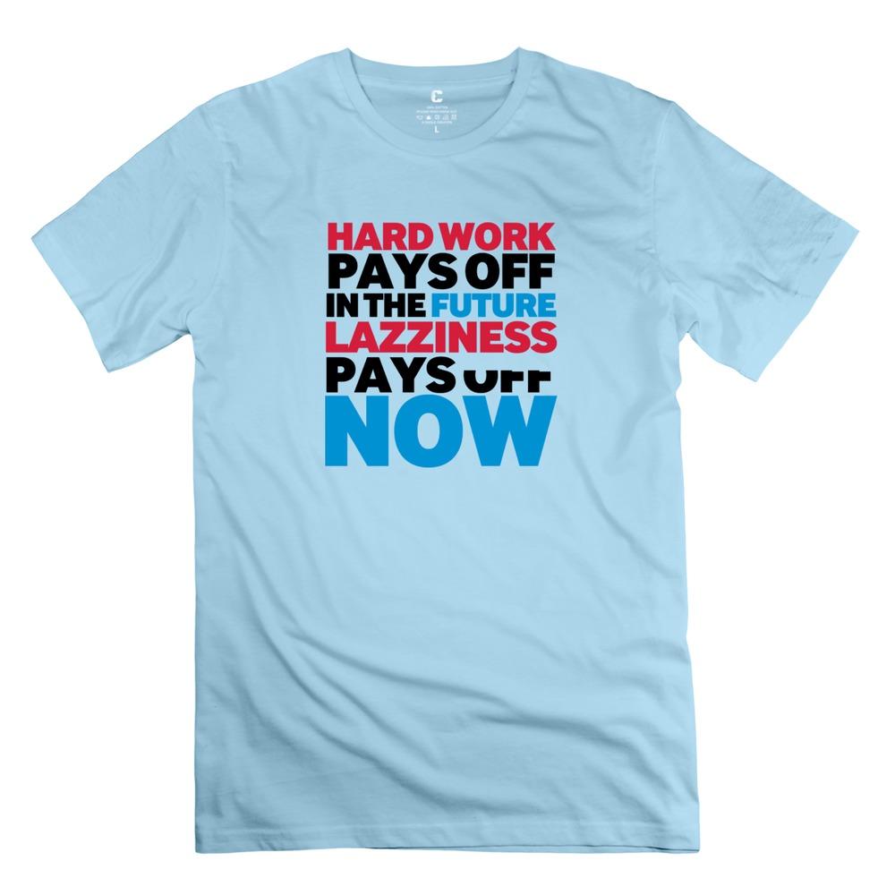 Leisure Short Sleeve Hardwork Men t-shirt Latest tshirt For boyfriend(China (Mainland))