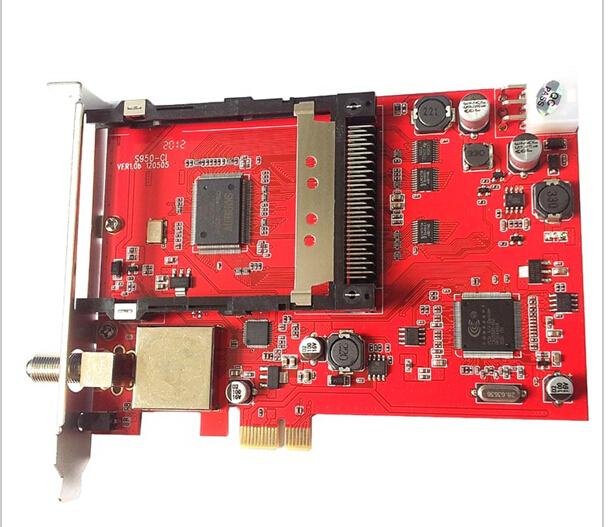 DVBSKY S950CI DVB-S2 PCI-E CI HD Satellite TV Receiver, common interface ,Hot Sell!(China (Mainland))