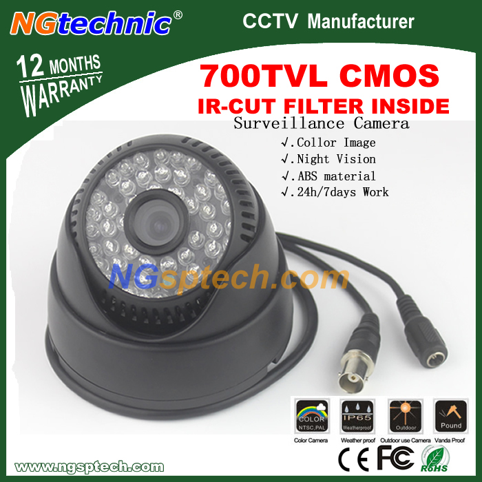 700TVL 1/4'' COMS Sensor with IR-CUT Filter Switch 48pcs IR Led light Day and Night CCTV Camera Color Black New Arrival(China (Mainland))