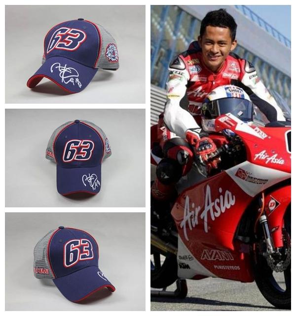 2015 Official 63 MOTO GP Zulfahmi fahmi Signature Motocycle cap Sports baseball cap gorra men topi hat motocross car racing cap(China (Mainland))