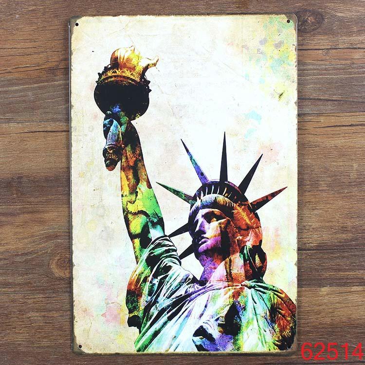 Fashion Statue of Liberty 20x30cm Tin Poster Metal Tin Signs Tin Plaque Tin Paintings Advertising Shop Bar Garage Wall Decor(China (Mainland))