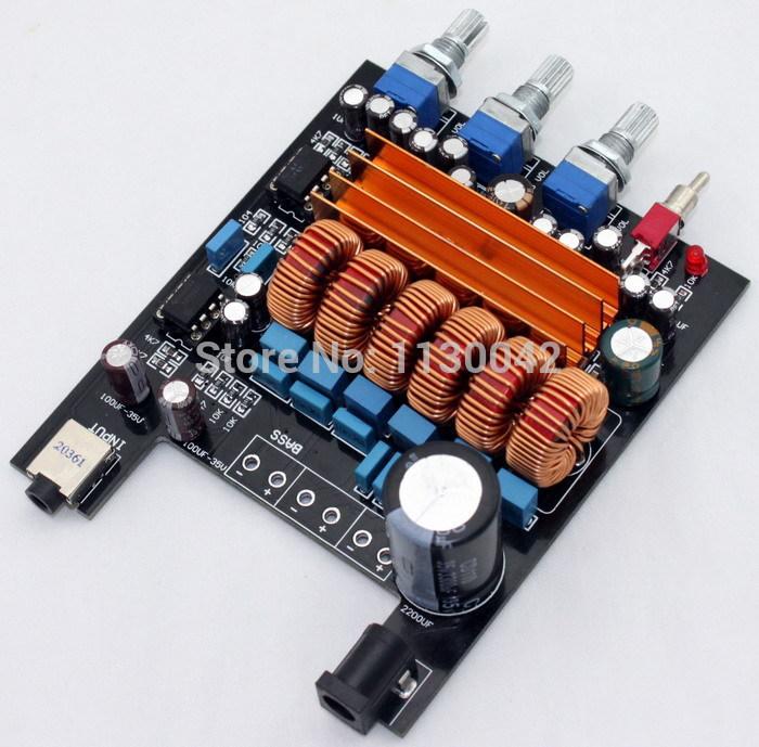 Frss Shipping hifi TPA3116 2.1 2 X 50W+bass 100W subwoofer Class D Digital audio Amplifier Board ,Personal DIY 2.1 amplifiers(China (Mainland))