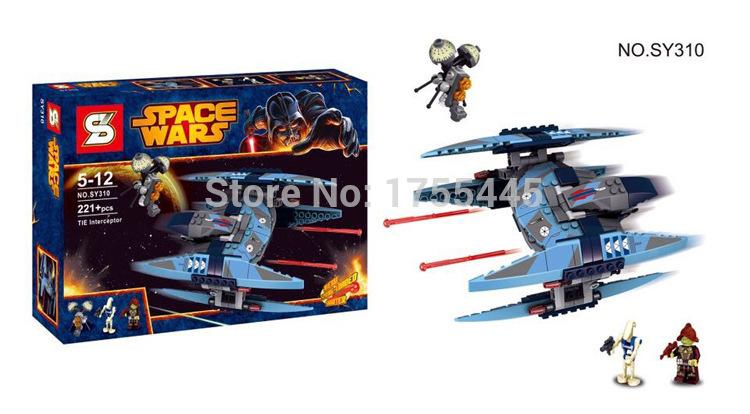 Star Wars Vulture Droid Buzz&Pilot Battle Droid Neimoidian Warrior Building Bricks Blocks Compatible with Legominifigure SY310(China (Mainland))