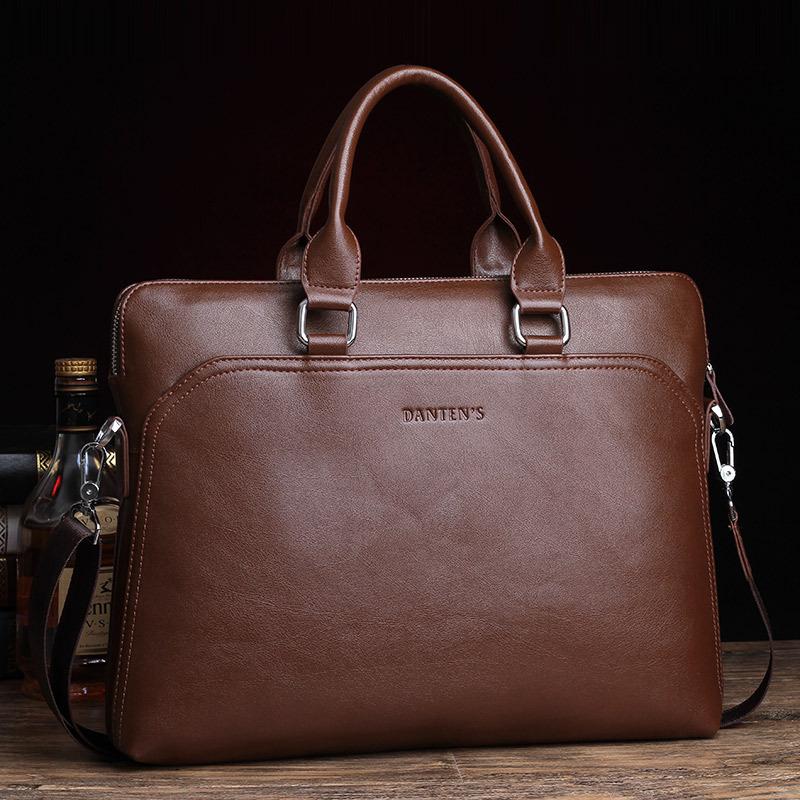 2015 British style men's travel bags shoulder messenger bag high quality genuine leather bag briefcase retro men's travel bags(China (Mainland))