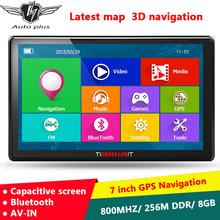 New 7 inch HD Car GPS Navigation Capacitive screen Bluetooth AVIN FM 8GB/256M DDR/800MHZ Truck vehicle gps Navi Free map