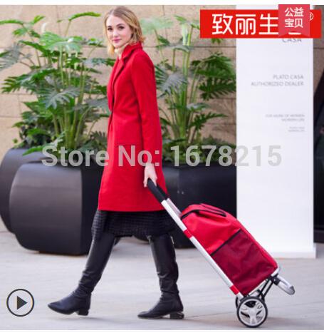 Shopping cart stair car small car folding portable trolley car wheel wear-resistant rubber wheels(China (Mainland))