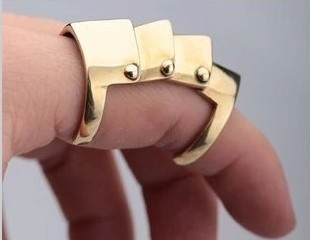 New European and American Punk style artificial joints ring jewelry fashion personality ring for girls free shipping YP0631(China (Mainland))
