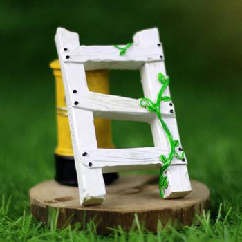 Мини продажа лестница украшения волшебный сад миниатюры гном мосс террариум бутылка рабочего смолы ремесла для домашнего декора