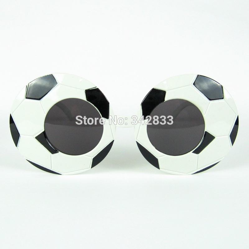 Funny Style Football Pattern Special Design Novelties Prop glasses Pub Eyewear Party Glasses Accessories(China (Mainland))