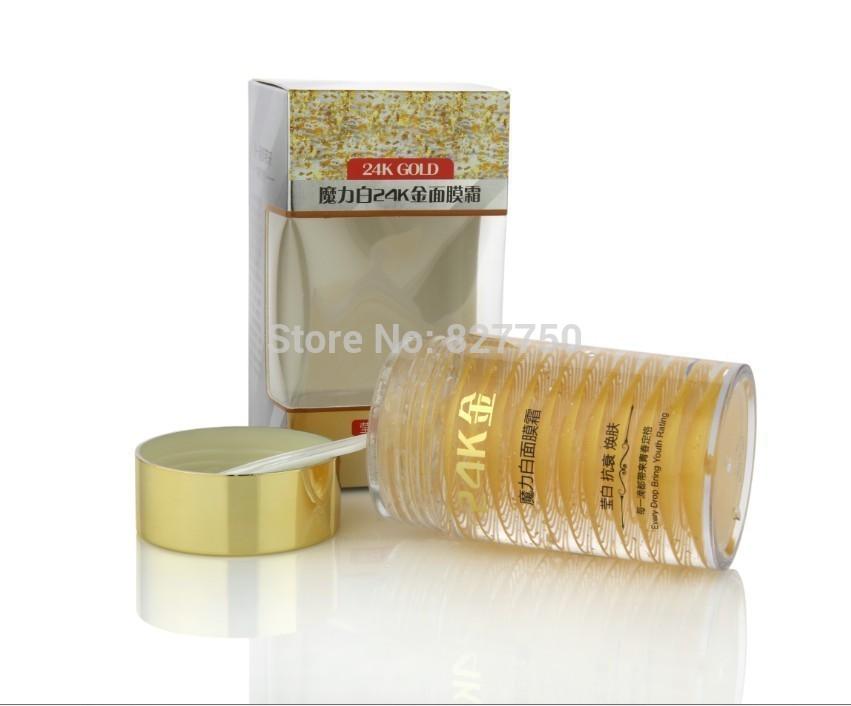 24K Active Gold Anti aging Wash Free Facial Sleep Mask Eliminate Wrinkle Firming Skin Whitening Face Care Night Cream(China (Mainland))