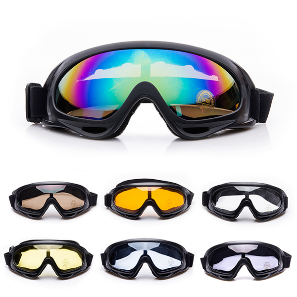 Windproof Outdoor Riding goggles X400 Glasses Cycling Sun Glasses Goggles Wind Mirror 7 Color Options Sports Sun Glasses(China (Mainland))