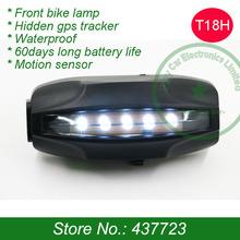 Велосипед gps трекер скрыты внутри перед велосипед лампа, Gps слежения программного обеспечения, Анти-потерянный движение датчик, И длинная аккумулятор жизнь
