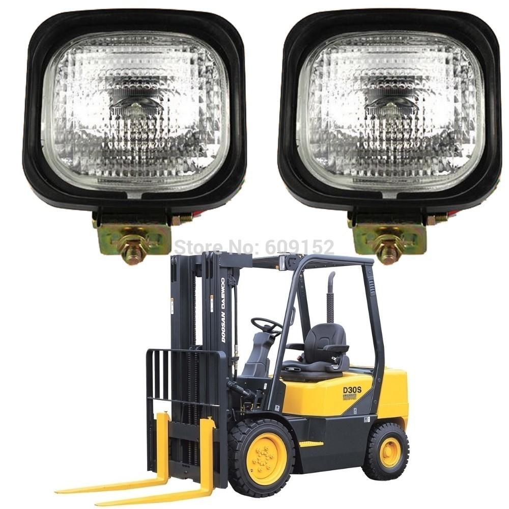 12v 55W 24V 70W Halogen forklift headlight Fog lamp Universal excavator road rollers bulldozers cranes mining Offroad work light(China (Mainland))