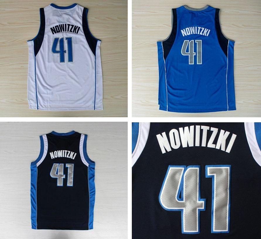 Dirk Nowitzki Authentic Jersey Blue Dirk Nowitzki White Blue