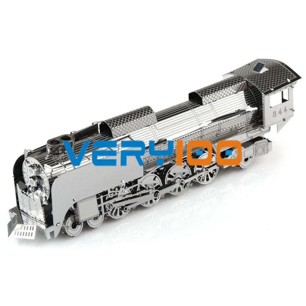 DIY 3D Laser Cut Metal Puzzle Jigsaw Model Steam Locomotive New Design No Glue FREE Shipping(China (Mainland))