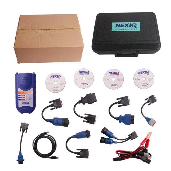 3Sets/Lot NEXIQ 125032 USB Link + Software Truck Diagnose Interface NEXIQ truck diagnostic tool with Plastic Box Free Shipping(China (Mainland))