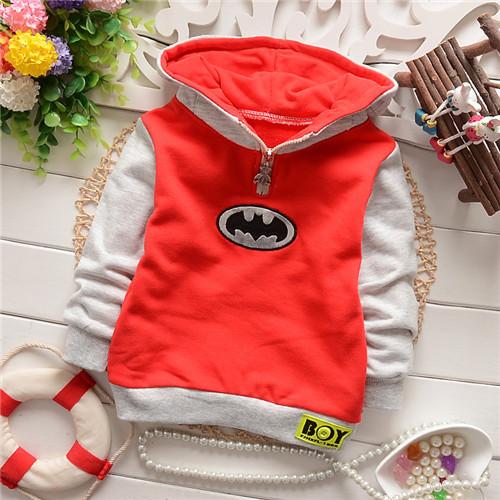 Унисекс мальчики девочки герой бэтмен младенца хлопка дети блузка кофты толстовки падение shippig kt409r
