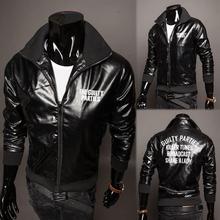 Vintage motorcycle leather jacket men new leather biker jackets mens designer clothing men vintage motorcycle leather jacket men(China (Mainland))