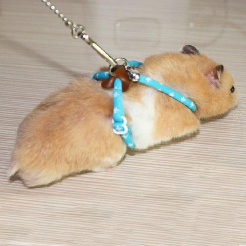 Pet Rat Mouse Harness Adjustable Rope Ferret Hamster Finder Bell Leash Lead(China (Mainland))