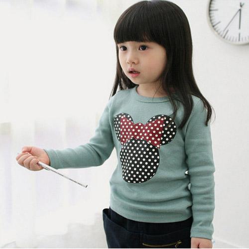 2-7years Girls Korean Spring Autumn Long Sleeve All Kids Clothing and Accessories T Shirts Cartoon Kids Girls Shirts(China (Mainland))