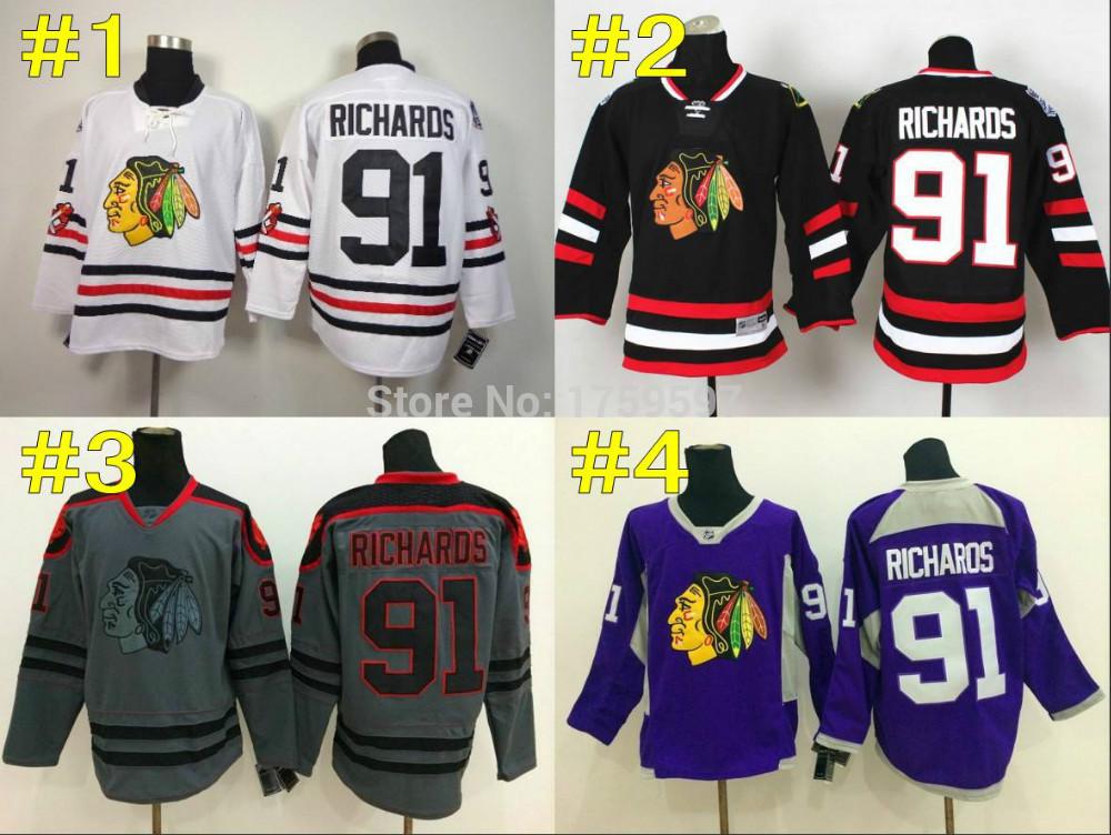 2015 Winter Classic 91 Brad Richards Chicago Blackhawks Cheap Hockey Jerseys ICE Winter Stitched Drop Shipping Size 48-56(China (Mainland))