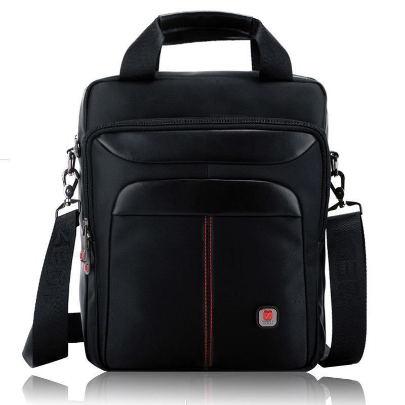 Hot Mens shoulder bag casual Korean man bag laptop men messenger bags 2015 Oxford cloth bag business ipad black wholesale V4X68(China (Mainland))
