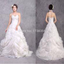 Amazing New Luxurious Princess A Line Wedding Dresses 2015 Dazzling Handmade Rhinestones Crystal Romantic Bridal Gowns